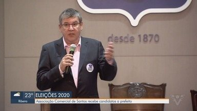 Associação Comercial de Santos recebe candidato Marcio Aurelio Soares - Iniciativa tem como objetivo realizar um ciclo de apresentações de propostas de governo de cada candidato.
