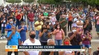 Devotos do Padre Cícero acompanham missa do dia 20 - Saiba mais no g1.com.br/ce