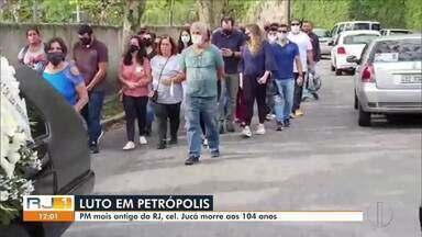 PM mais antigo do RJ morre em Petrópolis - O coronel João Freire Jucá Sobrinho, de 104 anos teve um mau súbito no domingo (18) e não resistiu.