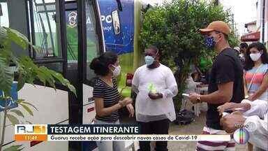 Guarus, em Campos, recebe ação para descobrir novos casos de Covid-19 - O subdistrito de Guarus foi o bairro que teve o maior percentual de casos confirmados entre as pessoas testadas.