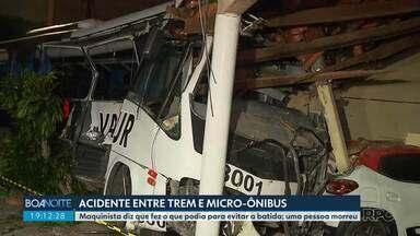 Maquinista diz que tentou evitar acidente com micro-ônibus, em Curitiba - Ele prestou depoimento nesta terça-feira (20). Uma pessoa morreu e cinco ficaram feridas em batida com trem.