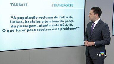 Veja as propostas dos candidatos a prefeito de Taubaté para o transporte - Confira a reportagem exibida pelo Jornal Vanguarda.