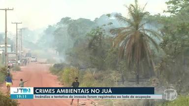 Polícia e bombeiros fazem operação para conter crimes ambientais na ocupação do Juá - Incêndios e loteamento foram registrados na área.