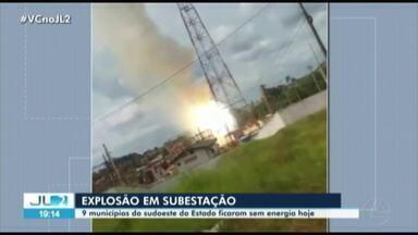 Explosão em subestação deixa nove municípios do Pará sem energia - Explosão em subestação deixa nove municípios do Pará sem energia