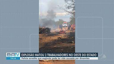 Explosão mata três funcionários de empresa terceirizada da coelba no oeste da Bahia - Segundo testemunhas, o caminhão onde os funcionários estavam explodiu no município de Cocos.