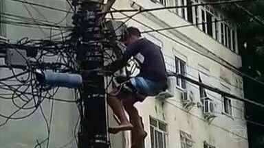 Pelo menos 16 empresas no Rio que fornecem internet são suspeitas de ligação com o crime - Tráfico e milícia no Rio de Janeiro destroem redes de operadoras legais e obrigam moradores a pagar pelo serviço clandestino para ter internet.