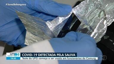 Exame da UFG detecta Covid-19 pela saliva - Teste começou a ser utilizado para diagnosticar funcionários da Comurg.
