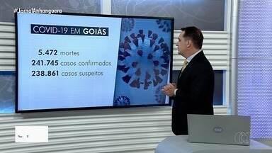 Confira os casos de coronavírus em Goiás - Dados da Secretaria de Saúde apontam 241.745 casos confirmados no estado.