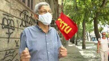 Cyro Garcia (PSTU) faz campanha no Centro do Rio - Cyro Garcia (PSTU) faz campanha no Centro do Rio.