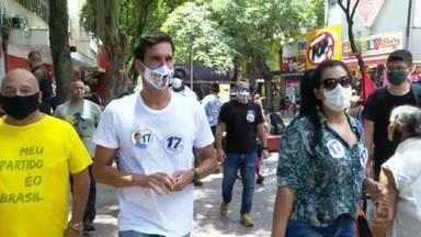 Luiz Lima (PSL) faz campanha no calçadão de Campo Grande - Luiz Lima (PSL) faz campanha no calçadão de Campo Grande.
