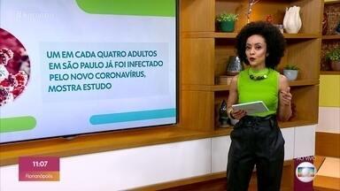 Um a cada quatro adultos em São Paulo já tiveram contato com o coronavírus - Pesquisa também confirma que os mais afetados pela pandemia são os negros, os pobres e pessoas com menos escolaridade