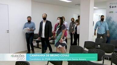Bruno Covas fez campanha na zona sul da capital - O candidato do PSDB à reeleição esteve no novo Hospital Integrado de Santo Amaro