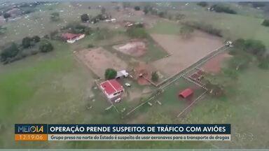 Operação mira suspeitos de usar aviões para tráfico de drogas - 10 pessoas foram presas neste sábado (24), no Paraná e em São Paulo.