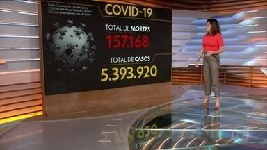 Brasil registra 157.168 mil mortes causadas pela Covid-19 - Veja os números atualizados da pandemia no Brasil, segundo o consórcio de veículos de imprensa.