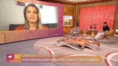 Ana Thaís Mattos comenta a rodada do Brasieirão e jogo da Copa do Brasil - Comentarista destaca o confronto entre Internacional e Flamengo, que terminou em empate
