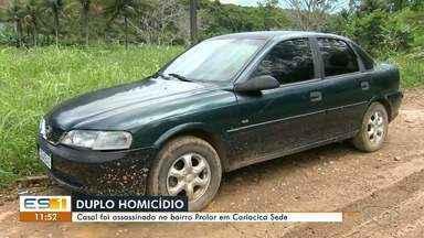 Casal é encontrado morto em Cariacica, no ES - Assista a seguir.