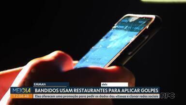 Golpistas usam nome de restaurantes para clonar contas em aplicativo de conversas - Eles oferecem uma promoção para pedir os dados das vítimas e clonar redes sociais.