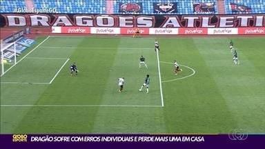Atlético-GO comete erros e perde do Palmeiras no Olímpico - Dragão falha na defesa e leva 3 a 0 em casa.