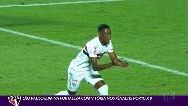 São Paulo elimina Fortaleza com vitória nos pênaltis por 10 x 9 - São Paulo elimina Fortaleza com vitória nos pênaltis por 10 x 9