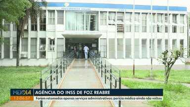 Agência do INSS de Foz do Iguaçu retoma atendimento presencial - Foram retomados apenas serviços administrativos. Perícia médica ainda não voltou.