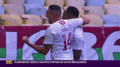 Fluminense vence o Santos e entra no G4 do Campeonato Brasileiro - Fluminense vence o Santos e entra no G4 do Campeonato Brasileiro