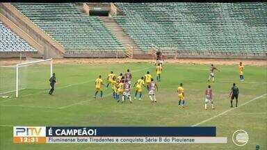 Fluminense vence e é campeão da série B do Piauiense - Fluminense vence e é campeão da série B do Piauiense