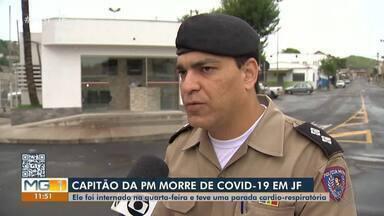 Capitão da Polícia Militar morre de Covid-19 em Juiz de Fora - O Capitão Luciano Fontainha tinha 40 anos e se dedicava às causas comunitárias e direitos humanos. Uma homenagem à vítima será realizada no Cemitério Parque da Saudade.