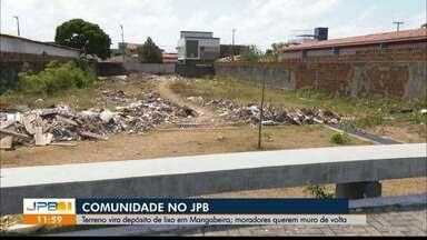 Terreno vira depósito de lixo em Mangabeira e moradores se queixam, em João Pessoa - Comunidade no JPB1.