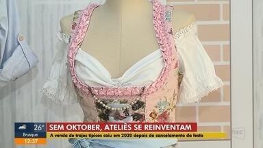 Sem Oktoberfest, venda de trajes típicos caiu em 2020 e ateliês se reinventam - Sem Oktoberfest, venda de trajes típicos caiu em 2020 e ateliês se reinventam