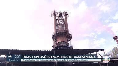 Trabalhador fica ferido em explosão em alto-forno de siderúrgica em Sete Lagoas - Foi o segundo acidente em menos de uma semana em siderúrgicas da cidade.