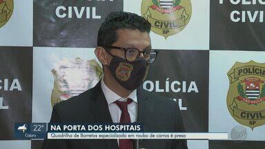 Polícia prende quadrilha de Barretos que furtava carros em porta de hospitais - Suspeitos agiam em cidades paulistas e em Minas Gerais.