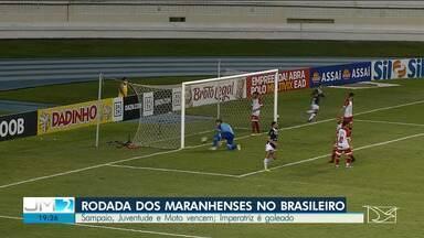 Saiba como a rodada dos maranhenses no brasileiro - Sampaio, Juventude e Moto vencem; Imperatriz é goleado.