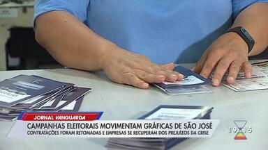 Campanhas eleitorais movimentam gráficas em São José dos Campos - Confira a reportagem exibida pelo Jornal Vanguarda.