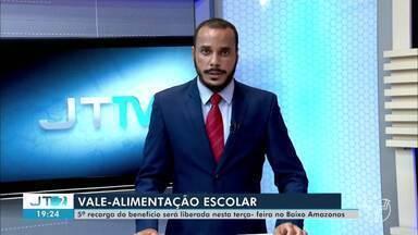 5ª recarga do vale-alimentação para alunos do Baixo Amazonas será liberada nesta terça - Benefício atenderá a todos os alunos matriculados na rede pública de ensino do Estado.