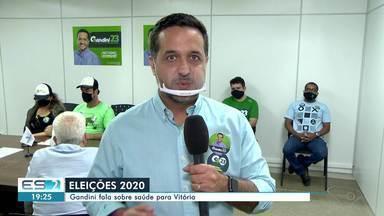 Gandini (Cidadania) diz que vai construir novas unidades de saúde em Vitória - Confira na reportagem.