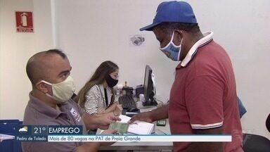 PAT de Praia Grande oferece vagas de emprego - Confira as vagas e pré-requisitos necessários.