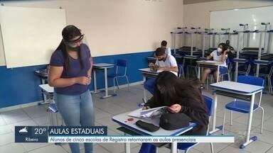 Registro é a única cidade do Vale do Ribeira com aulas presenciais na rede estadual - Retorno está sendo gradativo.