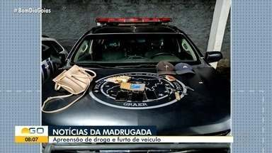 Goiânia tem madrugada com apreensão de drogas e furto de veículos - Madrugada foi movimentada na cidade.