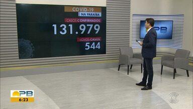 Paraíba tem 131.979 casos confirmados por coronavírus - Dados são das últimas 24h