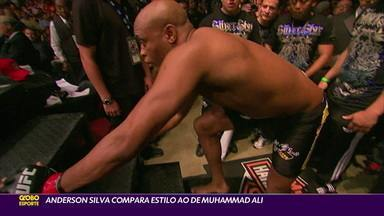Anderson Silva compara o estilo de luta ao de Muhammad Ali - Anderson Silva compara o estilo de luta ao de Muhammad Ali