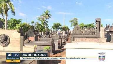 Cemitérios de BH recebem visitantes, com restrições - Veja as regras para visita