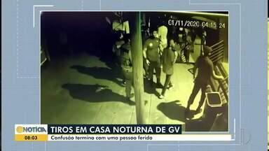 Homem é baleado em casa noturna em Governador Valadares - Disparo ocorreu durante briga generalizada, autor fugiu.