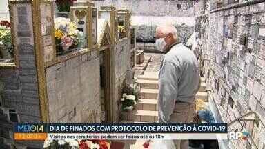 Dia de finados com protocolo de prevenção à Covid-19 - Visitas nos cemitérios podem ser feitas até às 18h.