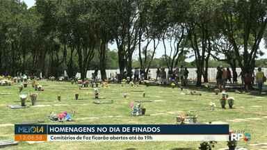 Cemitérios de Foz do Iguaçu ficam abertos até as 19h neste Dia de Finados - Celebrações serão diferentes este ano em função da pandemia.