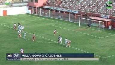 Caldense empata com o Villa Nova e segue na briga por vaga na Série D - Caldense empata com o Villa Nova e segue na briga por vaga na Série D