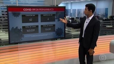 Pernambuco totaliza 163.039 casos da Covid-19 e 8.638 óbitos - Estado confirmou, nesta segunda-feira (2), 62 infectados e seis mortes causadas pelo novo coronavírus.