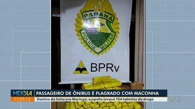 Passageiro de ônibus é flagrado com maconha - Droga foi encontrada pela PRE.