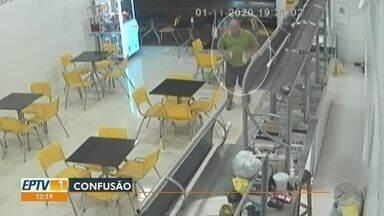 Balconista de sorveteria diz ter sido agredida por candidato a vereador em Barretos - Imagens registraram confusão no fim de semana.
