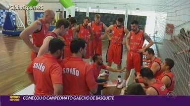 Começou neste fim de semana o Campeonato Gaúcho de basquete - Assista ao vídeo.