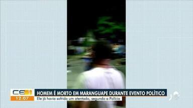 Homem é morto em Maranguape durante evento político - Saiba mais em g1.com.br/ce